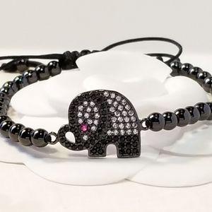 NEW in Gift Box Pave CZ Elephant Bracelet NWT